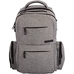 Baby Diaper Bag Backpack - Multi-Function Organizer with Stroller Straps, Large Changing Pad and Insulated Pockets, Grey - Free Storage Bag Included