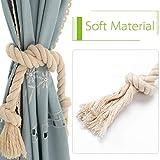 Apipi 4 Pcs Natural Cotton Curtain