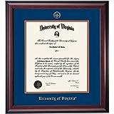 Virginia Wahoos Diploma Frame Blue Orange Matting Embossed Seal offers