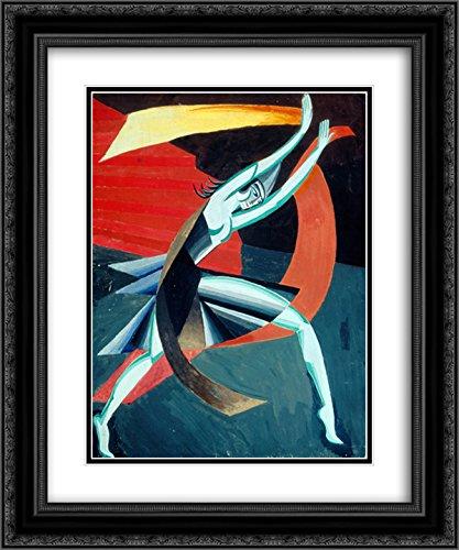 (Aleksandra Ekster 2X Matted 20x24 Black Ornate Framed Art Print 'Costume Design for Salome')
