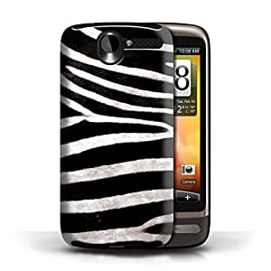 KOBALT? Protective Hard Back Phone Case / Cover for HTC Desire G7 | Zebra Design | Animal Fur Effect/Pattern Collection