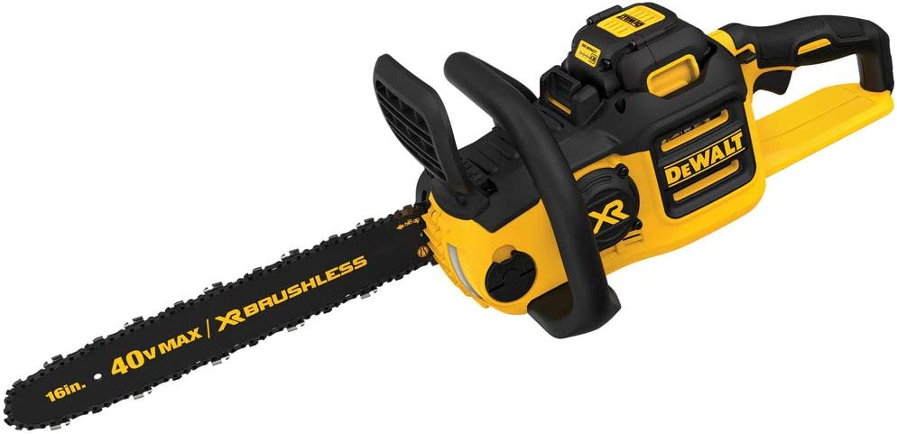 DEWALT DCCS690M1R 40V MAX Lithium-Ion XR Brushless 16 in. Chainsaw with 4.0 Ah Battery Renewed