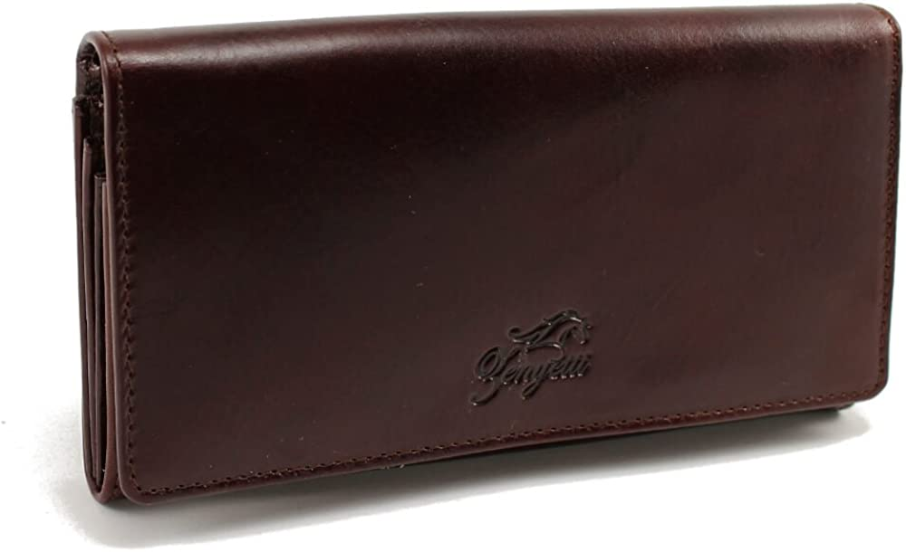 Fashioned as a Medium Clutch Zenyetti Handcrafted Premium Italian Leather Womens Wallet