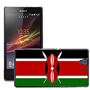 GoGoMobile Slim Protector Hard Shell Cover Case // V00001088 kenya National Country Flag // Sony Xperia Z L36H C6603