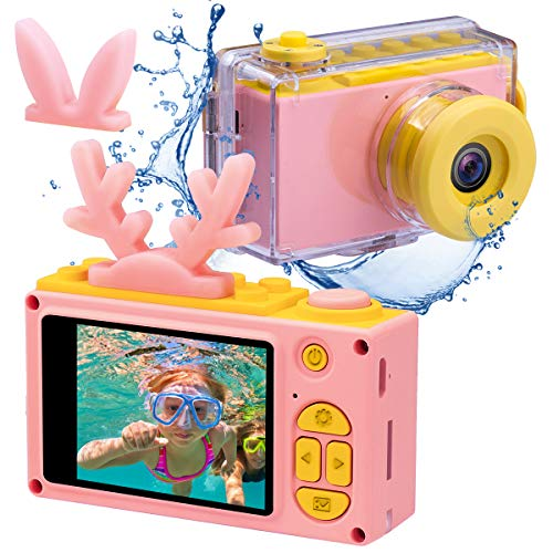 (Kids Digital Cameras for Boys HD 1080P Video Camera for Kids Children Selfie Camera Kids Toy Cameras Mini Child Camcorder for Age 3-10 Boys/Girls Pink)