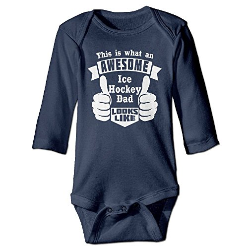 This Is What An Awesome Ice Hockey Baby Long Sleeves Climbing Clothes Unisex Triangle Bodysuit Size 24 Months Navy (Hockey Halloween Blue Jackets)