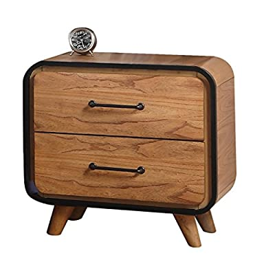 ACME Furniture 30763 Carla Nightstand, Oak/Black - 2 Drawers Side Metal Glide French Dovetail - nightstands, bedroom-furniture, bedroom - 51Suxr6xo1L. SS400  -