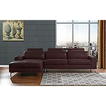 Merveilleux Modern Large Leather Sectional Sofa, L Shape Couch With Extra Wide Chaise  Lounge (