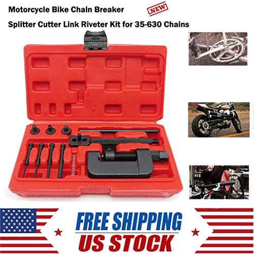Chain Breaker, Motorcycle Bike Chain Breaker Splitter Link Riveter Universal Set Riveting Tool by Little Story (Best Buds Necklace Split Heart)