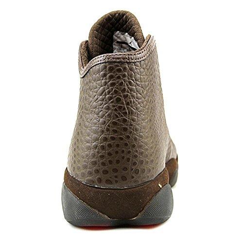Jordan Horizon Premium Heren Ronde Neus Leer Bruine Sneakers Brq Bruin