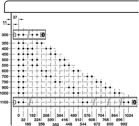 Gedotec Rail de Guidage de Tiroir Longueur 500 mm Glissi/ères Coulissante /à Roulement /à Billes Rail Telescopique pour Tablette avec Clavier en M/étal Inoxydable Capacit/é de Charge 120 kg