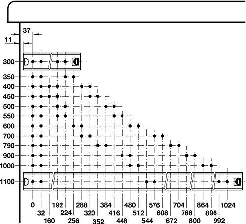 Rail Telescopique pour Tablette avec Clavier en M/étal Inoxydable Gedotec Rail de Guidage de Tiroir Capacit/é de Charge 120 kg Longueur 600 mm Glissi/ères Coulissante /à Roulement /à Billes