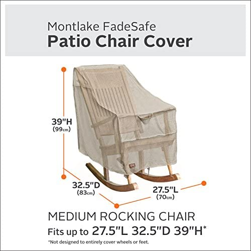 Classic Accessories Montlake Water-Resistant 27.5 Inch Patio Rocking Chair Cover