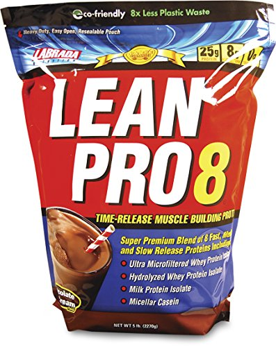 Labrada Nutrition Lean Pro 8, Super Premium Protein Powder w