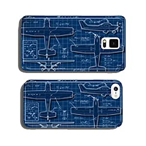 Plane Project in Five Orthogonal Views cell phone cover case iPhone6 Plus