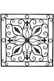"Lucina Tuscan 24"" Square Indoor Outdoor Iron Wall Grille Plaque"