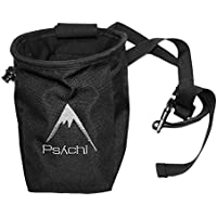 Psychi Chalk Bag for Rock Climbing Bouldering with Rear Zip and Waist Belt
