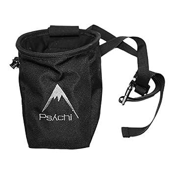 Psychi - Bolsa de magnesio con bolsillo y cinturón, color azul negro negro: Amazon.es: Deportes y aire libre
