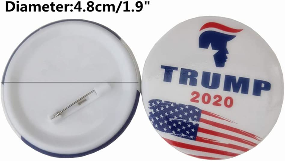SUSHAFEN 18Pcs Donald Trump Buttons Pins Keep America Great Brooch Pins Badge for Clothing Jeans Scarf Hat Bag Ornaments 2020 Presidential Election Campaign Supporter Gift Novelty Supplies