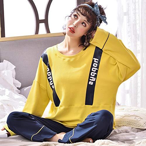 Mangas Mujer Largas Algodón Para Xl Pijama De Wear M Home Ahsxl Conjunto wRq8SXX