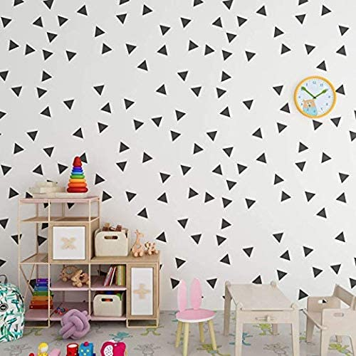 Black Triangle Sticker Decor Wallpaper Style Black Triangle Stickers 80 Pieces No Need for Wallpapers Modern Boho Style Stickers Wall Decals for Rooms