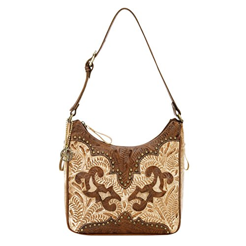 9199629 American West Women's Annie's Secret Purse - Cream by American West