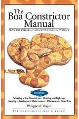 Boa Constrictor Manual (Advanced Vivarium Systems) Paperback