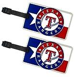 Texas Rangers - MLB Soft Luggage Bag Tag - Set of 2