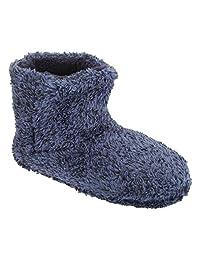 Mens Contrast Marl Design Pull On Slipper Boots