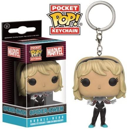 0849803096953 Porte Cl/é Marvel Spider-Gwen Unmasked Exclu Pocket Pop 4cm Funko