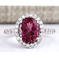 Siam panva Charm Women Jewelry 925 Sterling Silver Ruby Ring Wedding Bridal Gifts Size 6-10 (7)