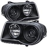 Xtune HD-JH-C300C-BK Chrysler 300C Halo Headlight