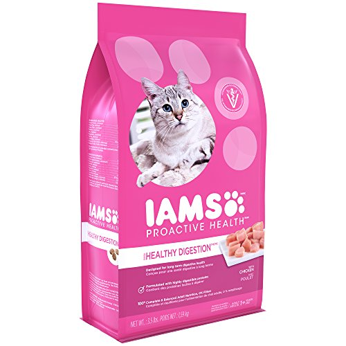 Iams Proactive Health Adult Healthy Digestion Dry Cat Food With Chicken And Turkey, 3.5 Lb. Bag