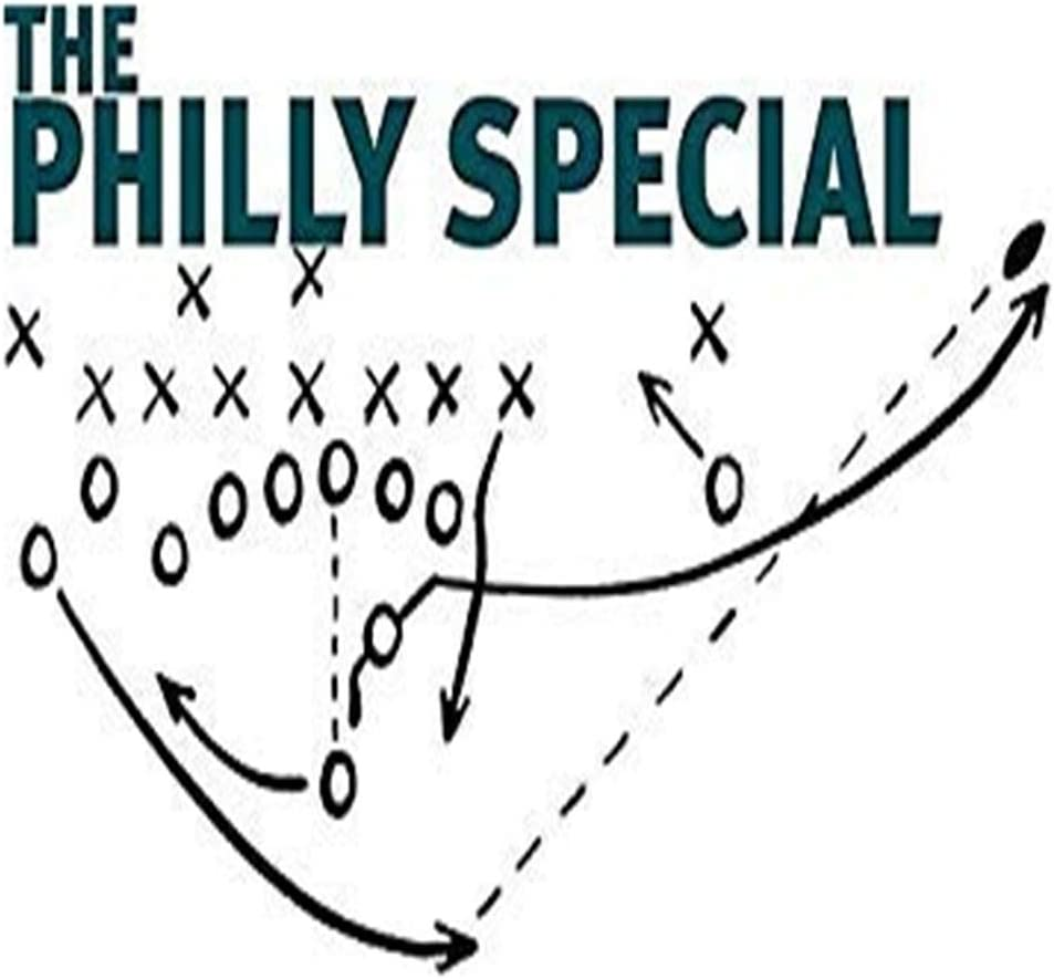 Philly Special - Vinyl Decal Sticker Car Decal Bumper Sticker for Use on Laptops Windowson Water Bottles Laptops Windows Scrapbook Luggage Lockers Cars Trucks
