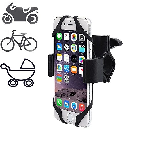 Bike Handlebar Phone Mount - Motorcycle Handlebar, iPhone 7 (6s,7s), Samsung Or All The 3.5-6 Inches Phones & GPS Devices,Smartphone Mounts,Adjustable, 360 Degrees Rotatable. Metal Base Very Durable