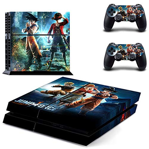 Playstation 4 Skin Set - Jump Force HD Printing Vinyl Skin Cover Protective for PS4 Gaming Console and 2 PS4 Controller by Mr Wonderful Skin