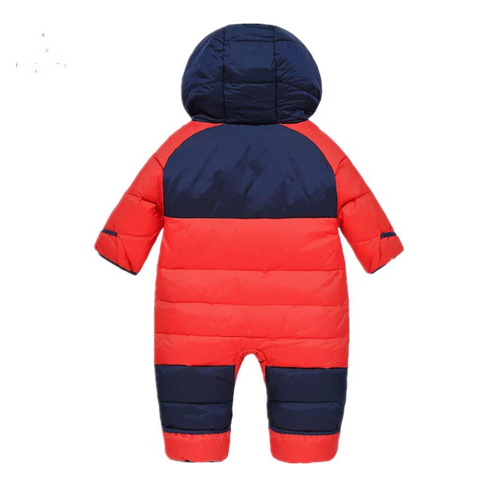 Mangka Toddler Baby Girls Boys Snowsuits Duck Down Jackets Hooded Puffer Jumpsuits