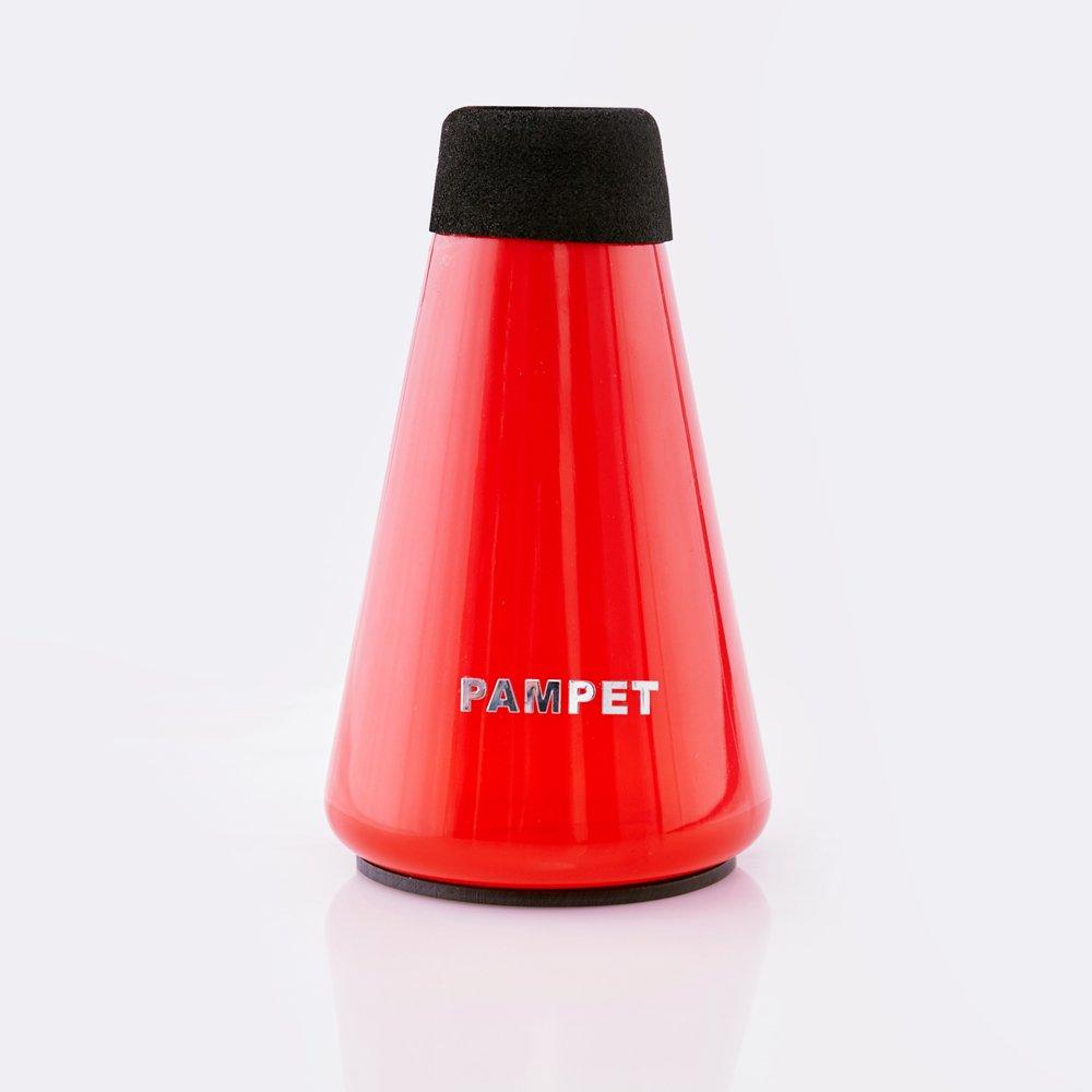 PAMPET Lightweight Plastic Practice Trumpet Mute Silencer Straight Mute For Trumpet (Green) Zmute