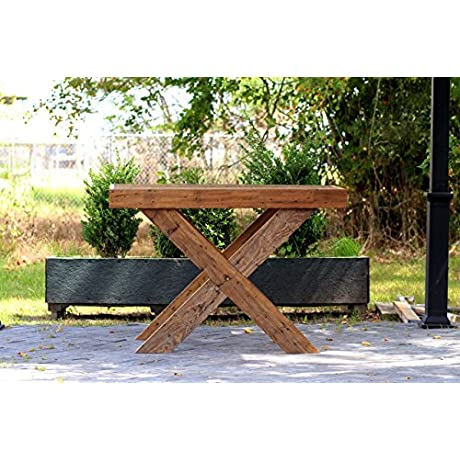 Hand Crafted Barn Wood Table Craftsman Design Reclaimed Wood Kitchen Island Package