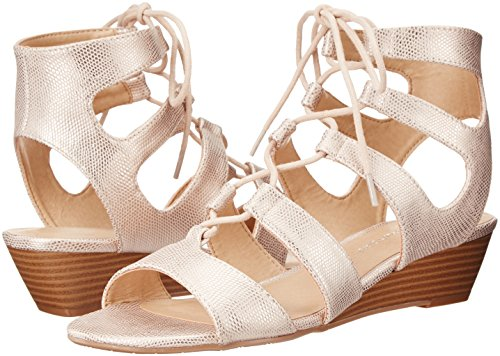 CL Sandalias Mujer by para cuña Rose Lizard Chinese Gold de Laundry STrFwStq