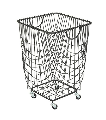 Deco 79 29021 Metal Roll Hamper Storage Basket, 16