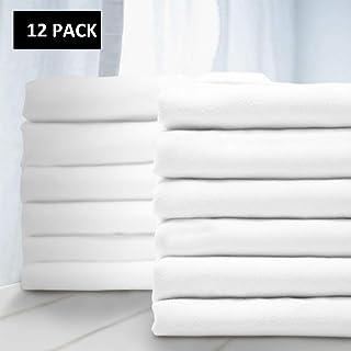 Balichun Premium Queen Pillowcase 12 Pack - Standard White - 1800 Thread Count - Soft Brushed Microfiber Allergies Free - Wrinkle Resistant - Tailoring Iron - Bulk Pillowcases Set of 12,1 Dozen