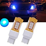 7440 led bulb blue - TUINCYN 2-Pack 1000 Lumens Blue Super Bright 7440 7440NA 7441 992 4014 54SMD Car LED Replacement Bulbs Tail Backup Stop Lights Turn Signal Reverse Brake LED Light with Lens DC 12V