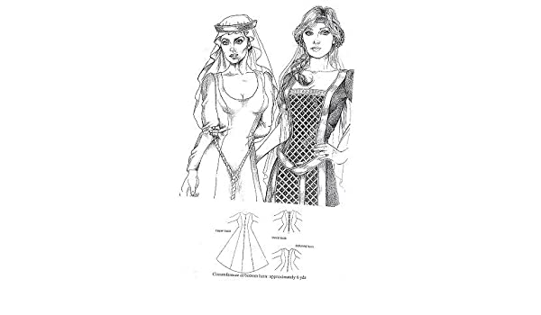 Amazon com: Easy Renaissance Princess (Kirtle) Gown Pattern