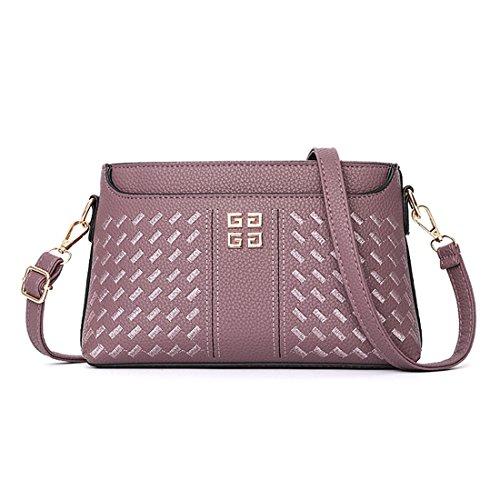 Bag Retro Dunland Purple Shoulder Womens Lattice Hobo Handbag Lady Tote Purse Simpleside Bag Messenger 6AAB7cryv