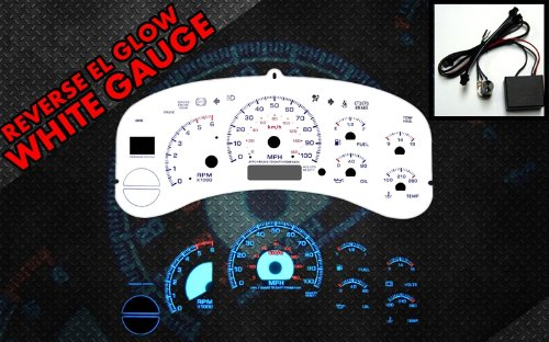 Glow White Face Reverse Gauges - 9