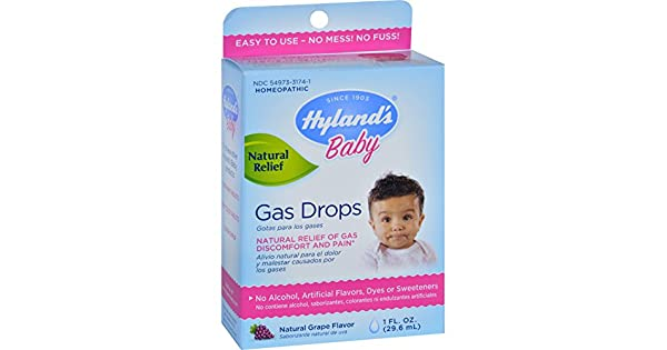Amazon.com: Hylands Homeopática bebé Gas gotas 1 FL oz: Baby