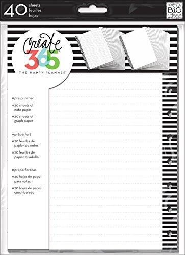 (me & my BIG ideas Graph Paper, Black Stripes)
