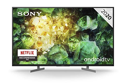 Sony KD-43XH8196 – Televisor 4K HDR Android TV (Smart TV, procesador X1 4K HDR, Triluminos, 4K X-Reality PRO, MotionFlow XR, Dolby Vision, Dolby Atmos, calibración automática caIMAN, control por voz)