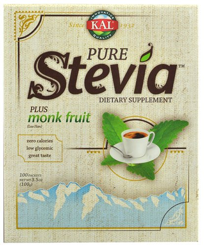 Kal Pure Stevia Plus Monk Fruit -- 100 Packets - 2pc